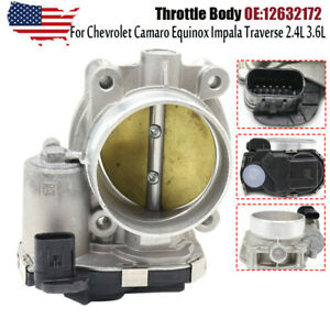 12670981 Throttle Body For Chevrolet Camaro Equinox Impala Traverse 2.4L 3.6L