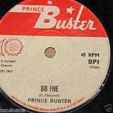 "PRINCE BUSTER ~ BIG FIVE b/w MUSICAL COLLEGE ~ UK PRINCE BUSTER LABEL SKA 7"""