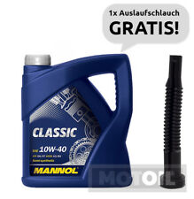 10W-40 Motoröl 5 Liter MANNOL Classic RENAULT MB VW + Auslaufschlauch