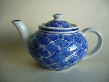 Small Blue And White Ceramic Teapot