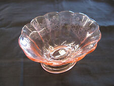 Paden City glass CUPID pink oval bowl rare ghost  treatment  SALE