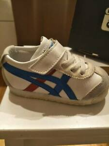 Onitsuka Tiger trainer, Infant size 5,  White/ Classic Blue
