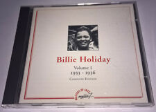 BILLIE HOLIDAY Volume 1 Complete Edition 1933-1936 CD France MEDIA 7 MJCD 10