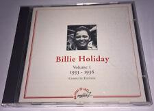 BILLIE HOLIDAY Volume 1 Complete Edition 1933-1936 CD France MEDIA 7 MJCD 10