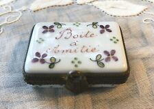 Rare Limoges ? Trinket Box ~vintage porcelain boxes ~France French collectibles