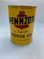 Vintage PENNZOIL Bell Motor Oil Tough Film 1 US Quart Can