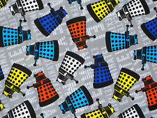 5 YARD BOLT  DOCTOR WHO DALEK TOSS  TARDIS COMICS COTTON FABRIC SPRINGS CREATIVE