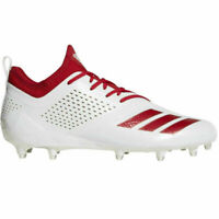 New Mens Adidas Adizero 5-Star 7.0 Low Football Cleats 13 White Red CQ0321