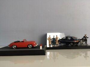 Véhicule miniature 1/43° de Gendarmerie -Peugeot 206 Radar- Porsche +Personnages
