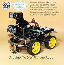 Arduino 4WD WiFi Video Robot / 4WD Programmable / WiFi Smart Car (Style one)
