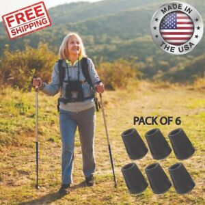 Replacement Rubber Tips For Hiking Poles Trekking Walking Stick Cane End Caps