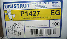 10x Unistrut P1427 EG Steel 3/4 in Thinwall Conduit Clamps Made in USA