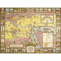 Crow 1935 Pictorial Map Shanghai City China Extra Large Art Poster
