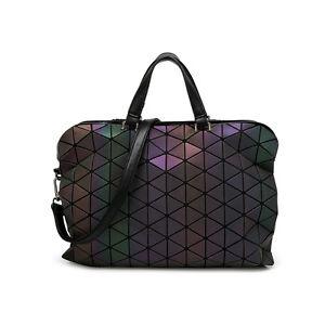 Luminous Geometric Sequin Women Handbag Quilted Laser Briefcase Tote Bag