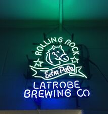 """24""""X20"""" ROLLING ROCK EXTRA PALE 33 Latrobe PA Pony Brewing Co. Neon Light Sign"""