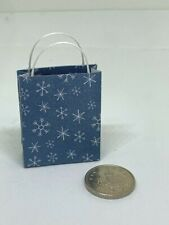 1:12th Scale Dolls House Miniature Accessory Christmas Snowflakes Gift Bag