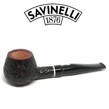 Neu Savinelli - Gaius Rustiziert Pfeife - 345 - 6mm Filter