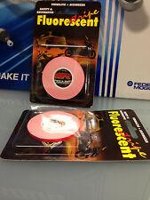 Striscia rotolo nastro adesivo adesiva rosso arancio fluorescente fluo 3,5mm