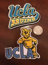 """(2) UCLA Bruins Vintage Embroidered Iron On Patch Lot (Old Stock) 3.5"""" x 3.0"""""""