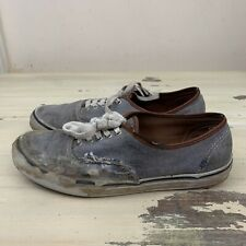 VANS AUTHENTIC - Thrashed Trashed Destroyed Blue Chambray Skate Shoes, Mens 10