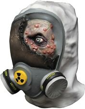 Halloween TOXIC ZOMBIE GAS MASK Latex Deluxe Mask Haunted House NEW