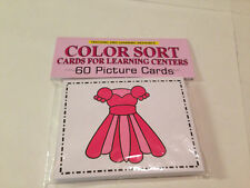 COLOR SORT- Cards for Learning Center 60 Cards- Teaching supplies