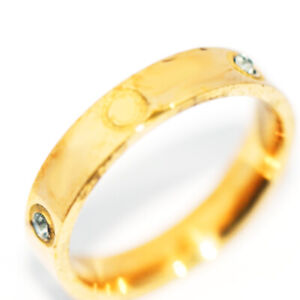 Classic Gold Filled Band Ring Jewelry with Crystal CZ For Womens Mens Size 9
