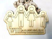 40x40cm Wandbild Familienschild mit Namen Tafel Familiennamen Schild XXL ca