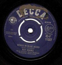 RAY ADAMS Venus In Blue Jeans Vinyl Record 7 Inch Decca F 11507 1962