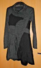 Robe multi-matières acrylique / laine / mohair grise et noire XL (40/42)  TBE