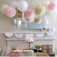 10x Fleur Pompon En Papier Boule De Fleurs De Soie Décoration De Mariage FR
