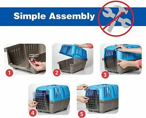 Midwest Spree Travel Pet Carrier, Dog Carrier Easy Assembly Ideal for Small Dogs