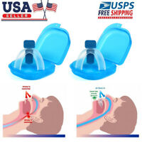 2 X Stop Snoring Mouthpiece Apnea Aid MouthGuard Sleep Bruxism Snore Guard Grind