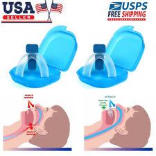2 X Stop Snoring Mouthpiece Apnea Aid MouthGuard Sleep Bruxism Snore Guard Grind