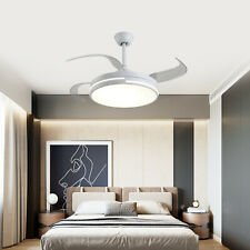 """42"""" Ceiling Fan with Remote & Light Kit 4 Retractable Blades"""