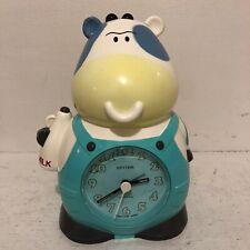 Vintage Rhythm Cow Talking Alarm Clock Japan Wake Up Don't Sleep Your Life Away