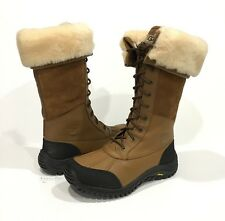 UGG ADIRONDACK TALL 5498 WINTER BOOTS WATERPROOF BROWN LEATHER US SIZE 10 -NEW