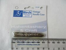 BIRCH VINTAGE NEEDLE CASE HOLDER*HOLDS 8-12 HAND NEEDLES COMES EMPTY