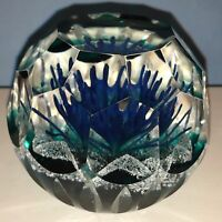 Caithness Serendipity Faceted Paperweight by Colin Terris Brand w/ Box COA Sale
