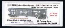 LMH Funaro F&C 6310 - 6312 Covered Hopper CARBON BLACK  CABOT SPHERON  Shippers