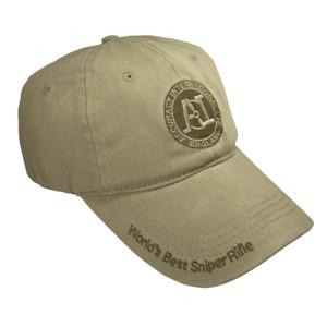 Genuine Accuracy International Rifles Sniper Tactical Baseball Tan Cap / Hat
