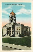 Mississippi, MS, Greenwood, Court House 1920's Postcard