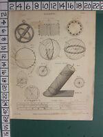 1816 Datato Antico Stampa ~Selettivo~ Vari Diagrammi Cilindro