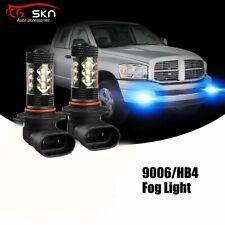 9006 Hb4 80W Led Fog Light Bulb for Dodge Ram 1500 2500 2003-2008 8000K Ice Blue(Fits: Rabbit)