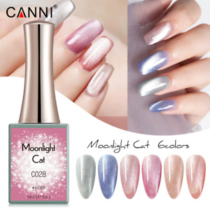 CANNI UV Nail Gel Polish MOONLIGHT CAT SERIES Glitter Varnish Soak Off LED 16ML