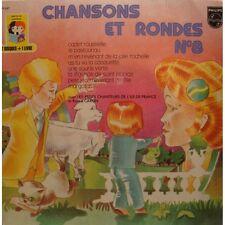 """CHANSONS ET RONDES 8 cadet rousselle RENÉE CARON 2 X EP 7"""" 1971 VG++"""