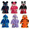 Minnie Baby Boys Girls Cartoon Hooded Bathrobe Child Toddler Bathing Towel Robe