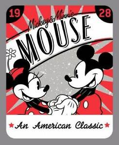 Mini And Mickey Mouse ''An American Classic'' Panel 100% Cotton Print Fabric
