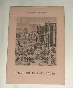 Ricordo di Lampedusa di Francesco Orlando -  All'insegna del pesce d'oro, 1963