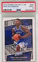 Zion Williamson 2019 Panini The National VIP Pack Rookie First Card PSA 9 Mint